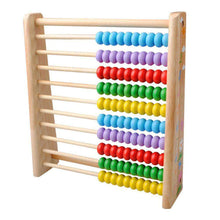 Load image into Gallery viewer, Wooden Kids Math Toys Wooden Abacus Teaching Learning Educational Preschool Training - amzer