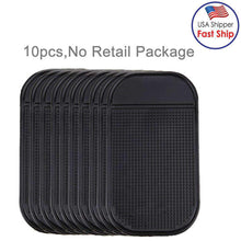Load image into Gallery viewer, AMZER 10 PCS Car Anti-Slip Mat Super Sticky Pad for Phone, GPS, MP4, MP3 - Black - amzer