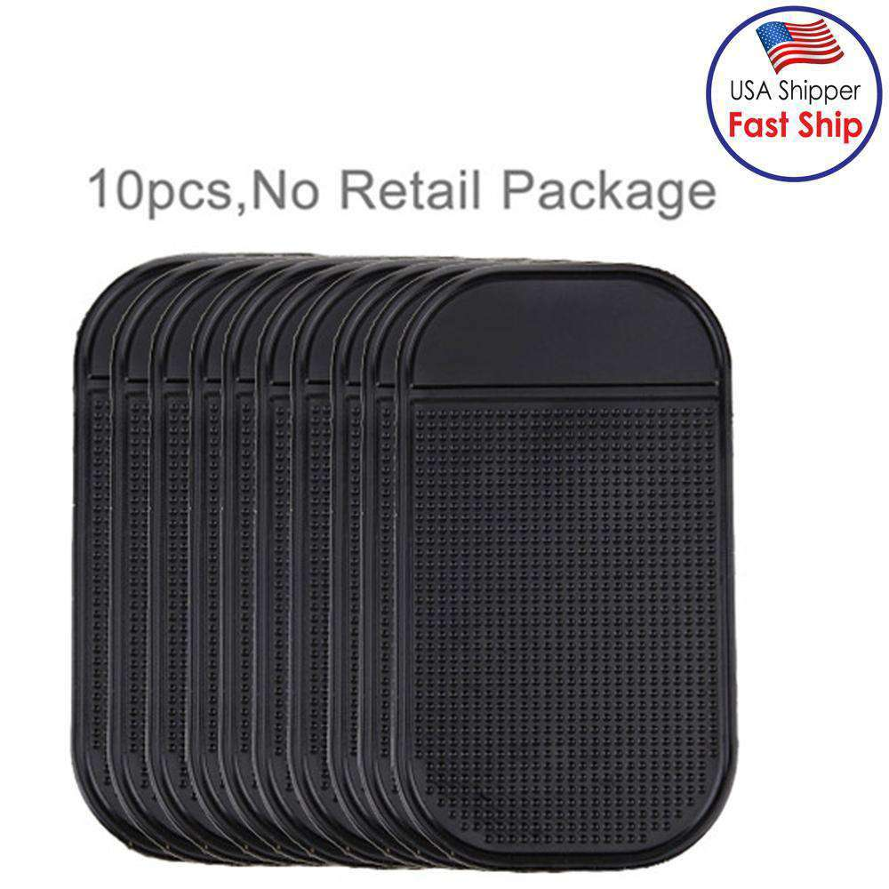 AMZER 10 PCS Car Anti-Slip Mat Super Sticky Pad for Phone, GPS, MP4, MP3 - Black
