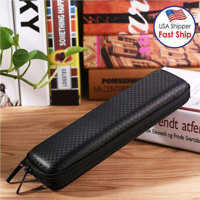 AMZER Leather Anti-lost Storage Bag Zipper Protective Box for Apple Pencil - Black
