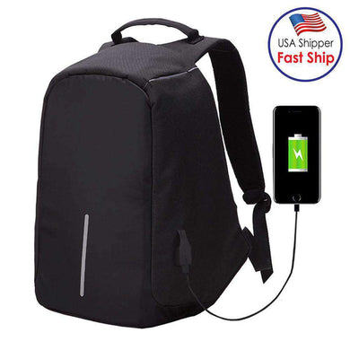 Multi-Function Large Capacity Travel Anti-theft Security Laptop Bag with External USB Charging Inte