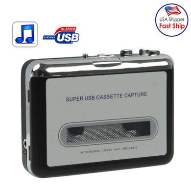 Tape to PC Super USB Cassette to MP3 Converter Capture Audio Music Player - amzer