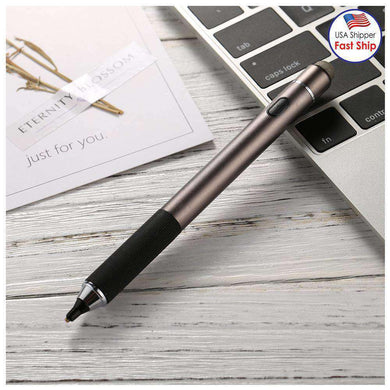 Universal Rechargeable Double Heads Capacitive Touch Screen Stylus Pen with 2.3mm Superfine Metal Ni
