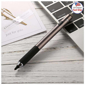 Universal Rechargeable Double Heads Capacitive Touch Screen Stylus Pen with 2.3mm Superfine Metal Ni - amzer