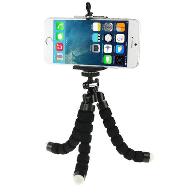 Flexible Octopus Bubble Tripod Holder Stand Mount for Smartphone, Camera - Black - amzer