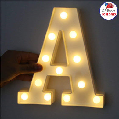 AMZER Alphabet A to Z Marquee Letter Shape Decorative LED Light for Wedding Birthday Party Christmas