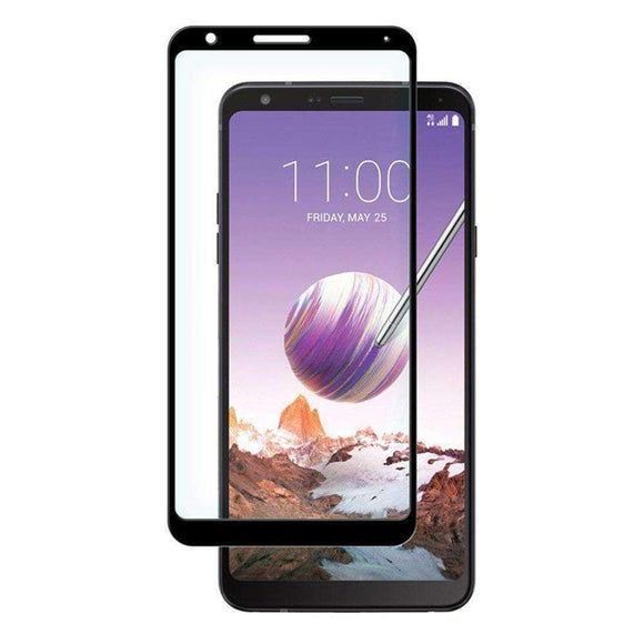 AMZER Kristal Edge2Edge HD Tempered Glass Protector for LG Stylo 4 - Black