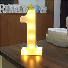 Load image into Gallery viewer, AMZER® Digit 0 Shape Decoration Light Dry Battery Powered Warm White Standing Hanging Light - amzer