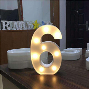 AMZER® Digit 0 Shape Decoration Light Dry Battery Powered Warm White Standing Hanging Light - amzer