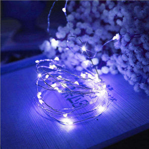 AMZER® Decorative Blue Light USB Silver Wire String Light 100 LEDs 8 Modes Fairy Lamp Light With 13- - amzer