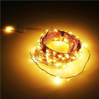 AMZER® Decoration Warm White Lights With LED Copper Wire String USB Powered IP65 Waterproof Festival - amzer