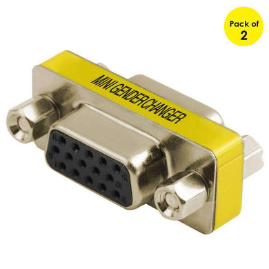 VGA 15Pin Female to VGA 15Pin Female adapter (Pack of 2) - amzer