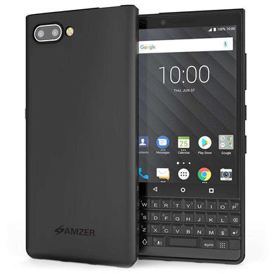 AMZER Pudding Soft TPU Skin Case for BlackBerry Key2 - Black - amzer