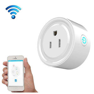 10A Round Shape WiFi Mini Plug APP Remote Control Timing Smart Socket Works with Alexa & Google Home - amzer