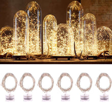 Load image into Gallery viewer, AMZER® Waterproof Light Copper Wire Starry String Light 20 LEDs Rope Fairy Light - Warm White (Pack of 6) - amzer