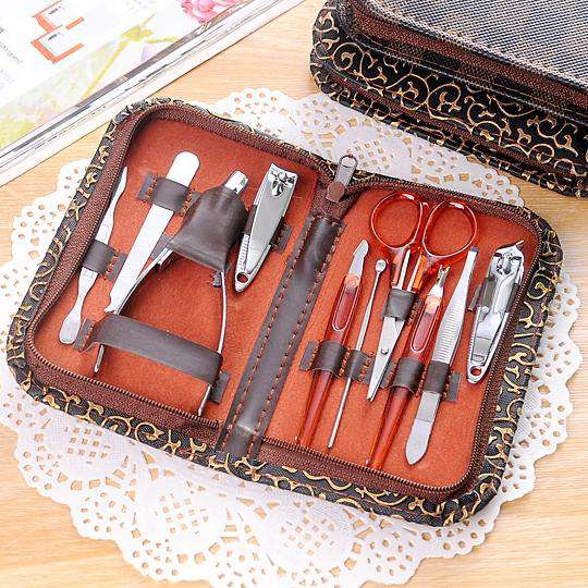 10 PCS Multi-function Stainless Steel Manicure Set Personal Care Tool - fommystore