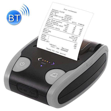 QS-5806 Portable 58mm Bluetooth POS Receipt Thermal Printer - Grey - amzer