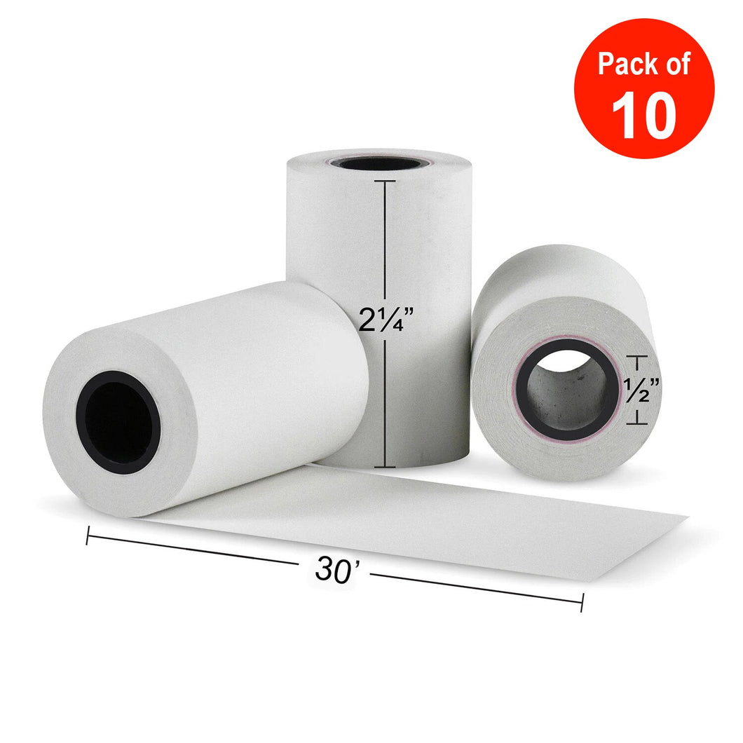 5 PCS 58mm 57*30mm 0.03mm Thickness Thermal Paper - amzer