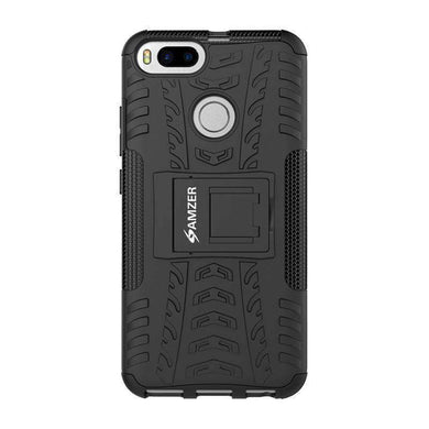 AMZER Shockproof Warrior Hybrid Case for Xiaomi Mi 5X - Black/Black - amzer