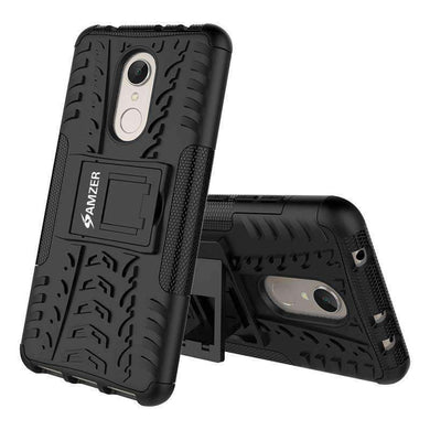 AMZER Shockproof Warrior Hybrid Case for Xiaomi Redmi 5 - Black/Black - amzer