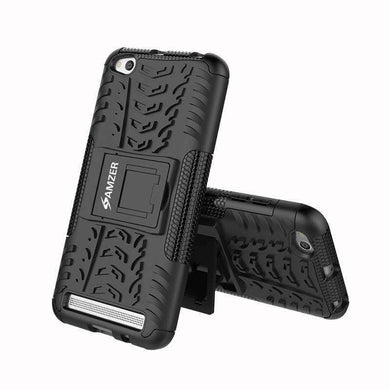 AMZER Shockproof Warrior Hybrid Case for Xiaomi Redmi 5A - Black/Black - amzer