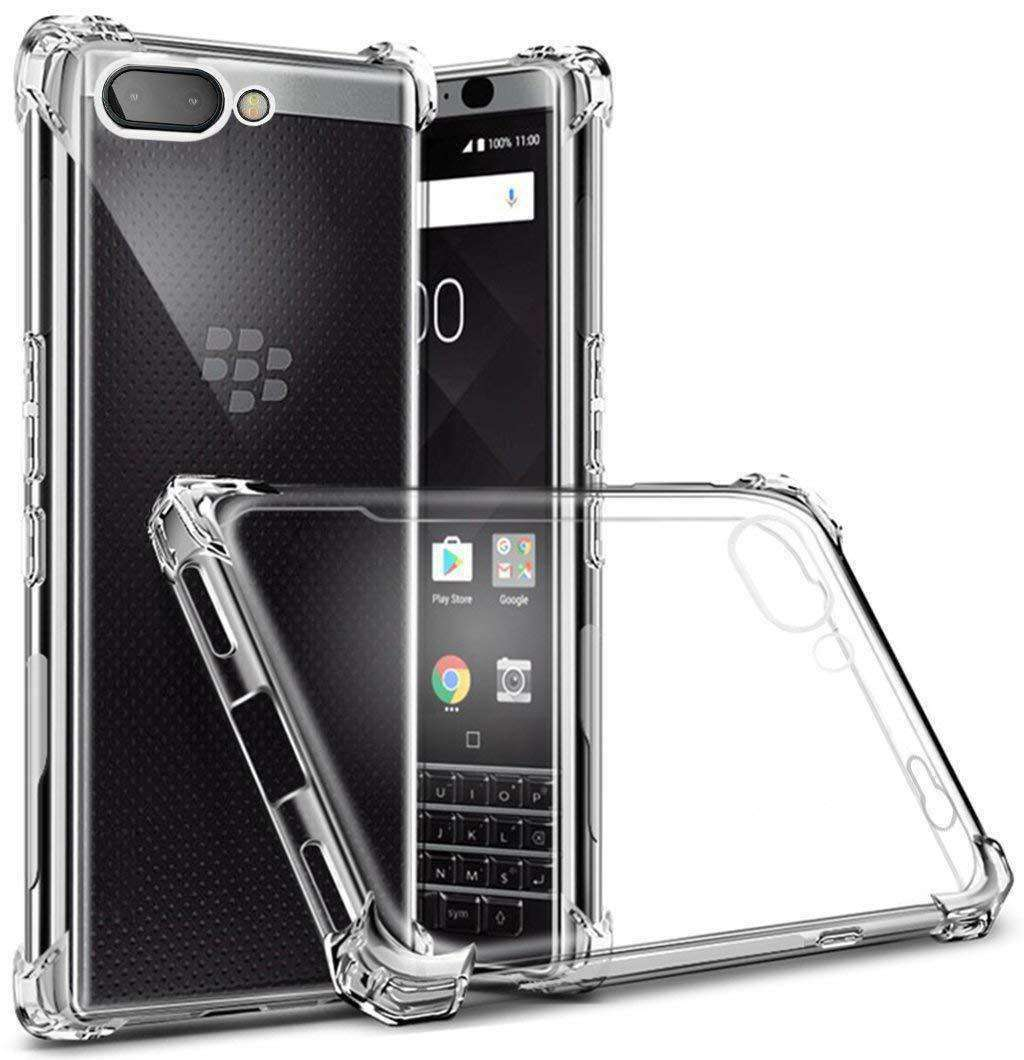 AMZER Pudding TPU Soft Skin X Protection Case for BlackBerry Key2 - Clear - amzer