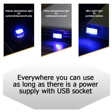 Load image into Gallery viewer, AMZER® Universal USB LED Atmosphere Lights Emergency Lighting Decorative Lamp - Ice Blue - amzer