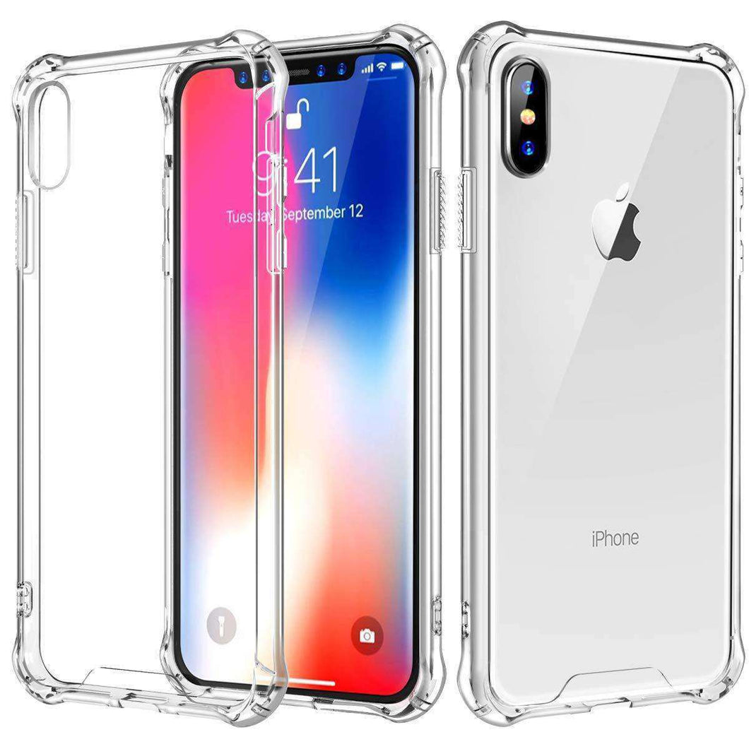 AMZER Pudding TPU Soft Skin X Protection Case for iPhone Xs Max - Crystal Clear