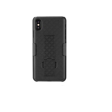 AMZER Shellster Hard Case with Belt Clip Holster for iPhone Xs Max - Black - amzer