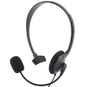 AMZER 3.5 mm Wired Gaming Mono Headphone With Mic and Volume Control - Black - amzer