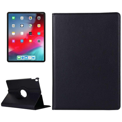 AMZER Horizontal Flip Leather Case Holder for iPad Pro 12.9 Inch 2018 - Black - amzer