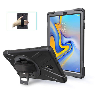 AMZER TUFFEN Hybrid Case With Built-in Screen Protector for Samsung Galaxy Tab A 10.5 SM-T595 -Black - amzer