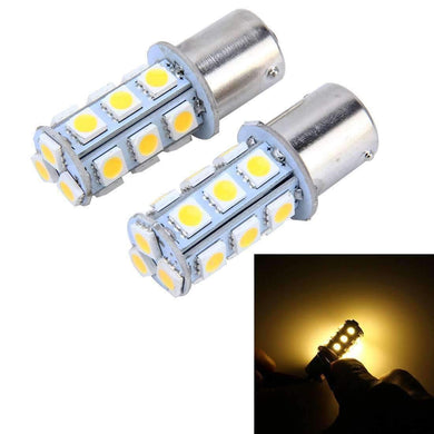 AMZER 3W 18 SMD 5050 LEDs Car Turn Light, DC 12V (Pack of 2) - Yellow - amzer