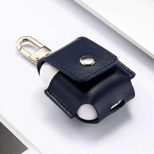 Load image into Gallery viewer, AMZER Leather Protective Case Anti-lost Storage Bag with Stainless Steel Hook For Apple AirPods