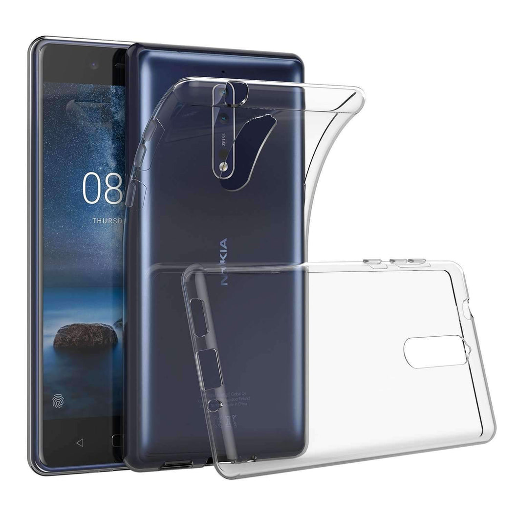 AMZER Slim Fit Soft TPU Case for Nokia 5 - Clear - amzer