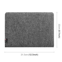 Load image into Gallery viewer, AMZER Portable Stylish Business Felt Sleeve Bag Protective Case for MacBook 13.3 inch - Dark Gray - amzer