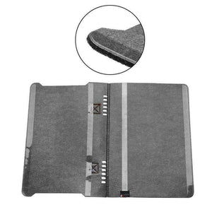 AMZER Portable Stylish Business Felt Sleeve Bag Protective Case for MacBook 13.3 inch - Dark Gray - amzer