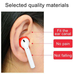 AMZER 2 PCS Wireless Bluetooth Earphone Silicone Ear Caps Earpads for Apple AirPods - amzer