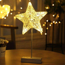Load image into Gallery viewer, AMZER Rattan Romantic LED Holiday Light with Holder, Warm Fairy Decorative Lamp Night Light for Christmas, Wedding, Bedroom