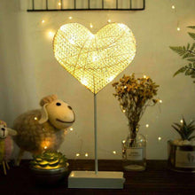 Load image into Gallery viewer, AMZER Rattan Romantic LED Holiday Light with Holder, Warm Fairy Decorative Lamp Night Light for Christmas, Wedding, Bedroom - amzer
