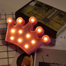 Load image into Gallery viewer, AMZER Creative Crown Shape Warm White LED Decoration Light, Party Festival Table Wedding Lamp Night Light - amzer