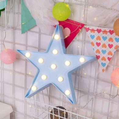 AMZER Creative Shape Warm White LED Decoration Party Star Lamp Light - fommystore