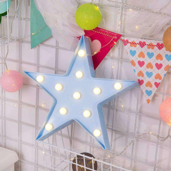AMZER Creative Shape Warm White LED Decoration Party Star Lamp Light