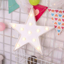 Load image into Gallery viewer, AMZER Creative Shape Warm White LED Decoration Party Star Lamp Light - fommystore