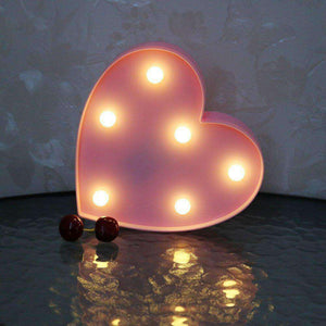 AMZER Creative Heart Shape Warm White LED Decoration Light, Party Festival Table Wedding Lamp Night Light - amzer
