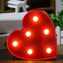 Load image into Gallery viewer, AMZER Creative Heart Shape Warm White LED Decoration Light, Party Festival Table Wedding Lamp Night Light - amzer