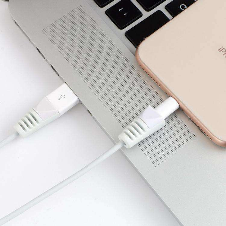 AMZER Anti-break USB Charge Cable Saver Winder Protective Case Protection Sleeve (Pack of 4) - White - amzer