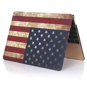 AMZER American Flag Laptop Water Stick Style Protective Case for MacBook Air 13.3 inch A1932 (2018) - amzer