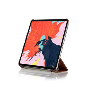AMZER Texture PU Leather Smart Stand Cover With Auto Sleep/Wake Case & Magnetic Pencil Wireless Charging  Holder for iPad Pro 11 Inch (2018) - Black - amzer