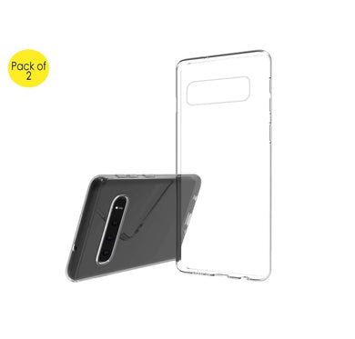 AMZER Ultra Slim Clear TPU Soft Protective Case for Samsung Galaxy S10 Plus - Clear